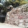 追手門脇の見せる石垣