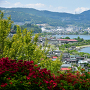 小坂観音院から諏訪湖を望む