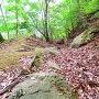 石弓の段と中の丸の間の横堀