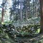 低い段々の石垣群