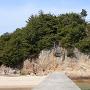 突堤から見た城山(その1)