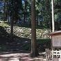 桜馬場の石垣と案内板