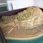 富田城ジオラマ模型[提供:安来市]