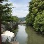 太鼓橋から見た水堀