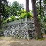 日吉神社裏の石垣