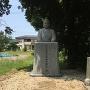 神社奥、明智光秀公銅像