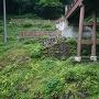 曳橋の橋台の石垣