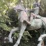 菊池武時公騎馬像