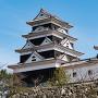 大洲城 天守と高欄櫓(西から)