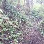 登城道の土塁