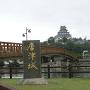 橋から城を見る
