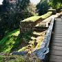 木橋から物見台下虎口方向