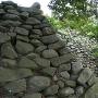 天守台石垣の北側から