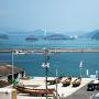 村上水軍博物館から能島を望む