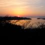 米子城からの眺望(夕陽)[提供:米子市教育委員会]