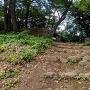 西曲輪北側の石段と門跡