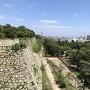 巽櫓から見える明石大橋