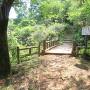 空堀跡に架かる木橋