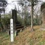 城跡標と石碑