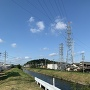 合瀨川越しの小牧山