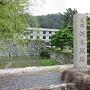 淡路文化資料館前城跡碑