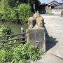 石田堤が決壊した箇所にある「堀切橋」