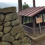 霞ヶ城の由来の井戸@本丸南側