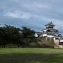 櫻門跡側からの天守
