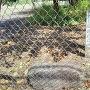 神指小学校にある石垣の石