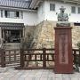 天守前にある木下藤吉郎秀吉の像