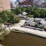 天守からの小倉城庭園(小笠原会館)