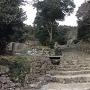 大手道の石階段