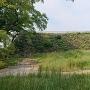 南側からの天守台石垣