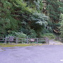 駐車場からの登城口(八幡神社-羽衣石経由側)