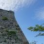四重櫓台のエッジと忘れ石
