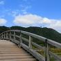 錦帯橋から天守を望む