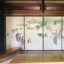 旧高橋源次郎家 ふすまの日本画