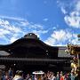 本丸御殿と秀郷の山車(川越まつり)