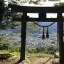 金毘羅神社 鳥居越しの眺望