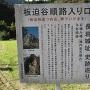 林道入口の標識