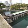 高松城・鞘橋を望む