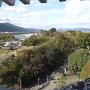 阿波川島城・天守閣の最上階からの吉野川の眺め