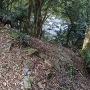 天守台石垣の残骸