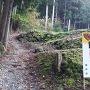 登城口と馬出曲輪の石垣