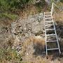 石積櫓へ向かう途中の短い方の梯子