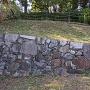 北門跡にある復元石垣