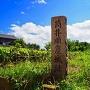 夏の城址碑