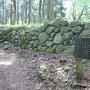 三の丸門跡と石垣