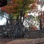 七曲門跡の秋