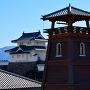時の鐘と甲府城